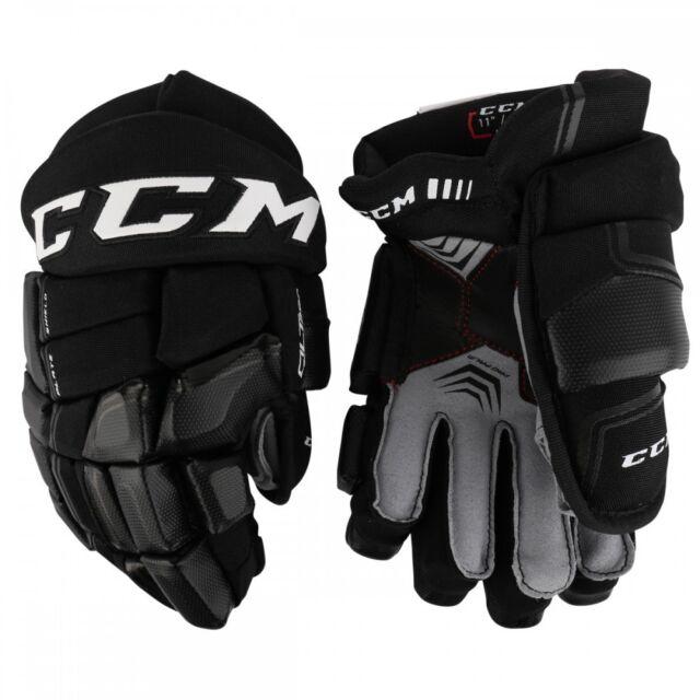 9c0ee2c0763 CCM Quicklite QLT 290 Junior Ice Hockey Gloves Black sunflover 11in ...