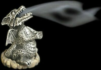 Smoking Dragon Incense Burner Holder Cones copper silver with free cone new bnib