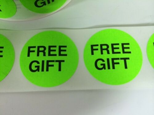 """50 2/"""" FREE GIFT GREEN NEON STICKERS Labels Stickers NEW FREE GIFT GREEN LABELS"""