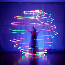 Light Up Poi Balls Pair -7 Color 9 Glow, Rave, Belly Dancer Prop 2016