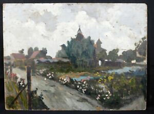 Louis-Edmond-Jean-Mezerette-1893-1963-Village-Sancoins-Cheap-Jules-Lapaire