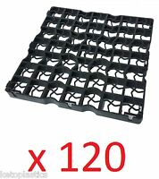 120 X Black Plastic Paving Driveway Grid Turf/ Grass/ Gravel Protectors Uk Made