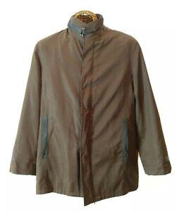 Emporio-Armani-Brown-Men-039-s-Jacket-Lined-Button-Coat-Size-XL