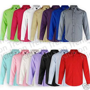 Chemise-Garcon-formelle-de-toutes-les-couleurs-enfants-mariage-chemise-a-manches-longues-age-1-2-3-4