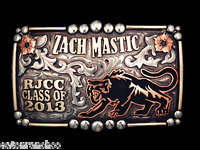 Custom Mortenson Rodeo Trophy Belt Awards Buckle Rhinestones Senior Class
