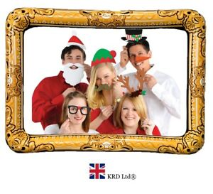 CHRISTMAS PROPS /& GIANT INFLATABLE BLOW UP SELFIE PHOTO FRAME FUN PARTY BOOTH