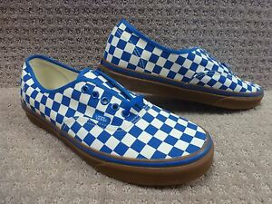 blanco Zapatos auténtico Vans Gum chckbrd Bl Clsc Hombre XX0qwT