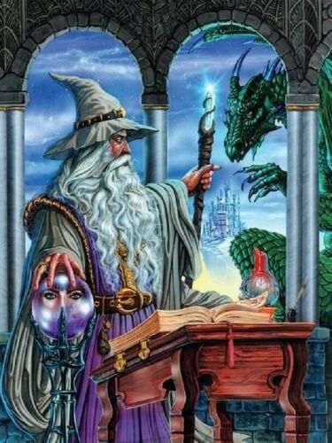 Jigsaw Puzzle Fantasy Mythology Wizard/'s Emissary 750 pieces NEW Made in the USA