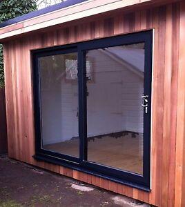 Upvc Sliding Patio Doors >> Full Black Sliding Patio Upvc Patio Doors 2000mm X 2100mm