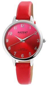 Akzent-Damenuhr-Rot-Pink-Analog-Kunst-Leder-Quarz-Modeuhr-X1900233002