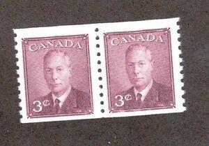 Canada Scott 296 - Mint Never Hinged.Original Gum. Coil Pair.#02 CAN296