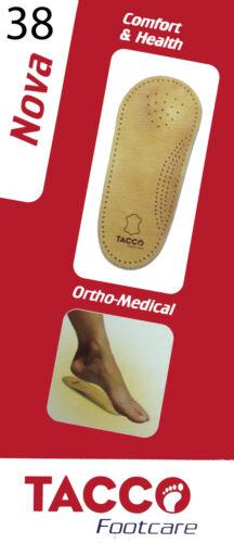 All Sizes TACCO NOVA Footcare Women ORTHOPEDIC MEDICAL Leather Insoles Men