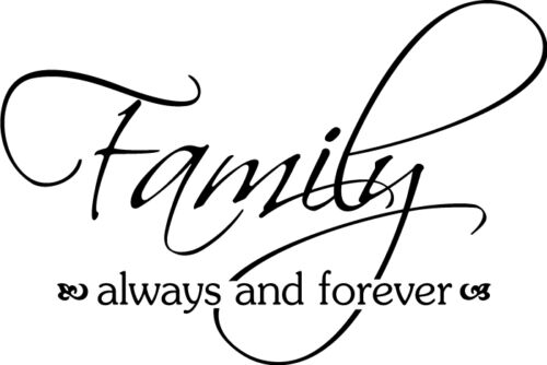 Family is Always Forever Vinyl Wall Home Decor Decal Quote Inspirational Adorabl