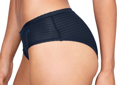 Under Armour Pure Stretch Sheer Womens Brief Navy Super Soft Technical Knickers