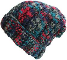 Mens or Womens Oversize Knitted Beanie Hat Chunky Winter Slouch Beanies - A615