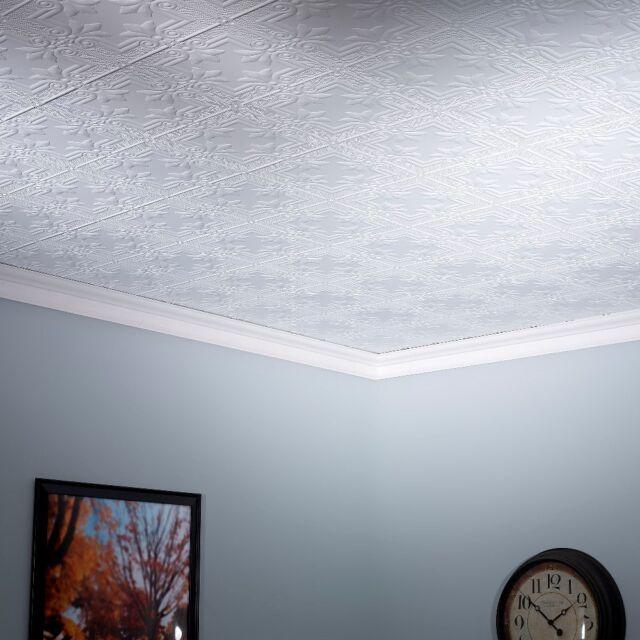 Fasade Traditional 1 4 Ft X 2 Ft Glue Up Ceiling Tile In Antique Bronze For Sale Online Ebay
