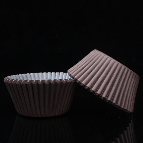100PCS Muffins Paper Cupcake Wrappers Baking Cups Cases Boxes Cake Decorating