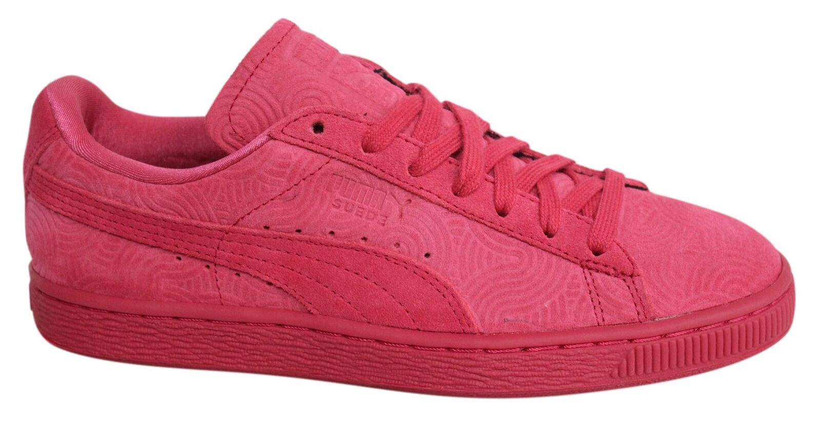 Puma Suede Classic + Lace Up Rose Leather D119 Womens Trainers 360584 02 D119 Leather 538836