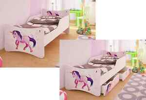 bfk brandneu kinderbett jugendbett unicorn einhorn. Black Bedroom Furniture Sets. Home Design Ideas
