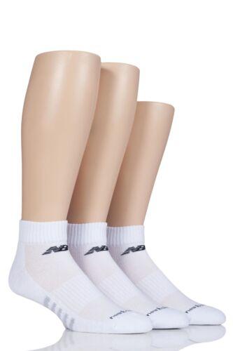 Mens and Ladies 3 Pair New Balance Performance Cotton Low Quarter Socks