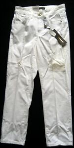 Cambio-Women-039-s-Jeans-Trousers-With-Swarovski-Elements-White-Size-32-and-36