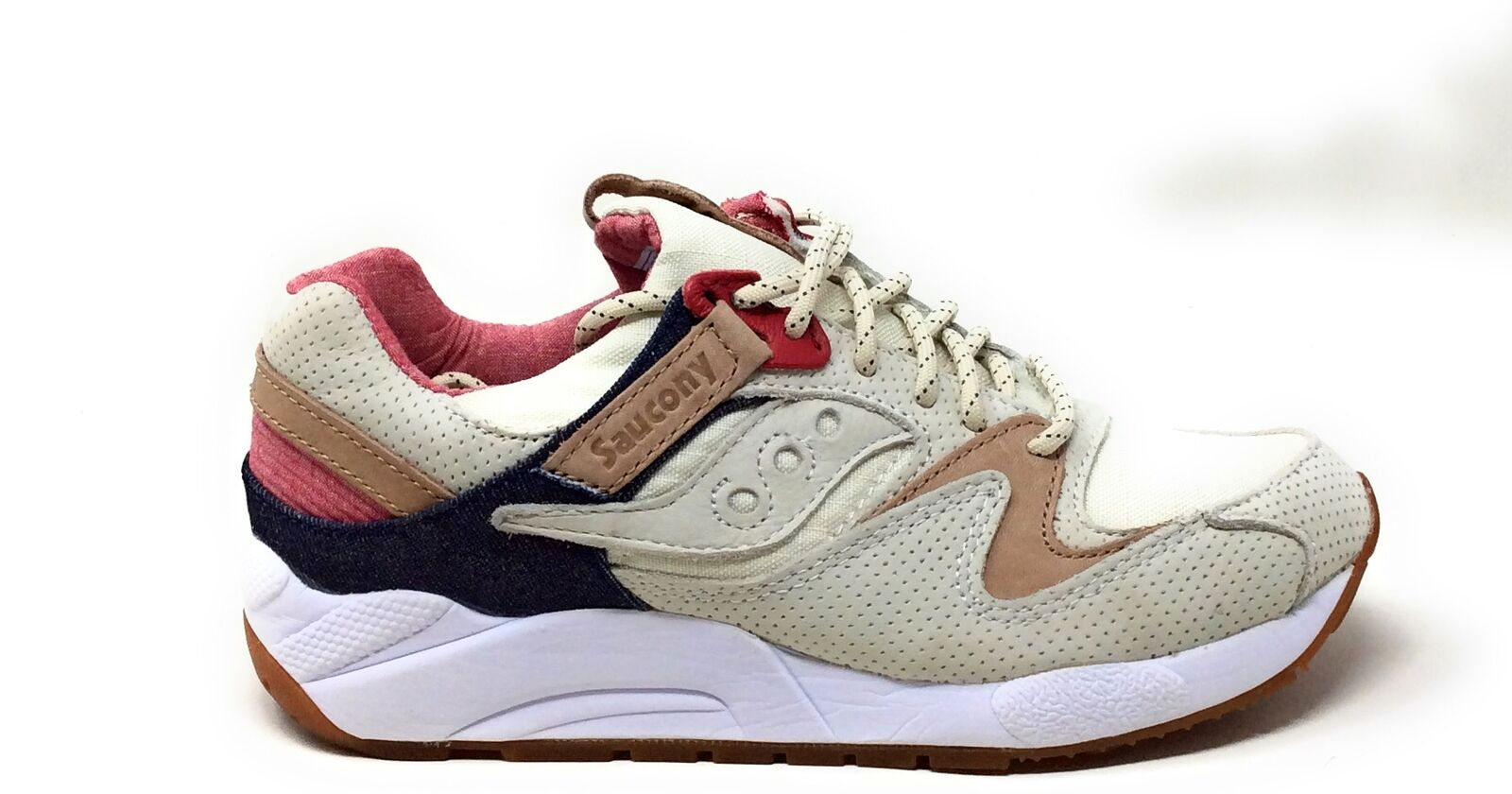 Saucony Mens Grid 9000 Running Sneaker shoes Light Tan Size 6 M US