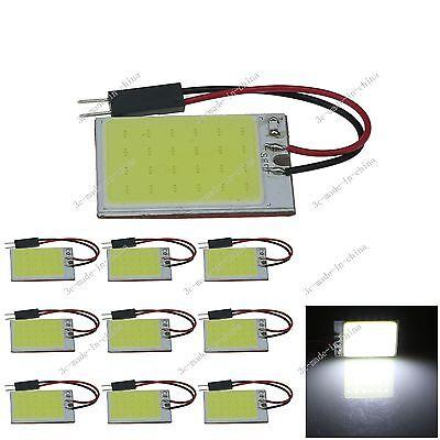 10pcs White 24 Chips COB LED Festoon Dome/Door Light Panel Interior Bulb J304