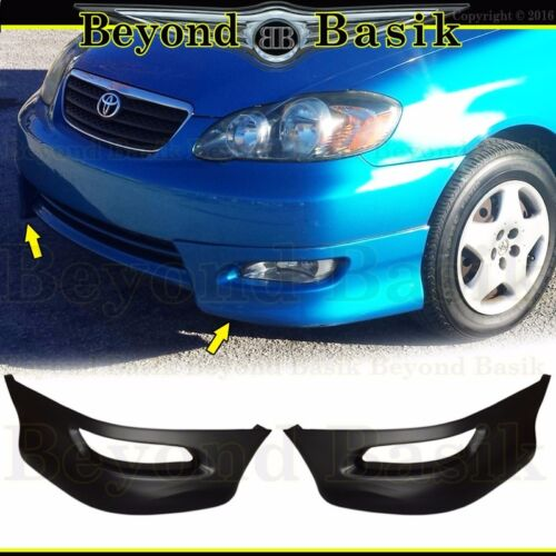 For 2005 06 2007 2008 Toyota Corolla Front Bumper Body Kit Lower Lip S Style