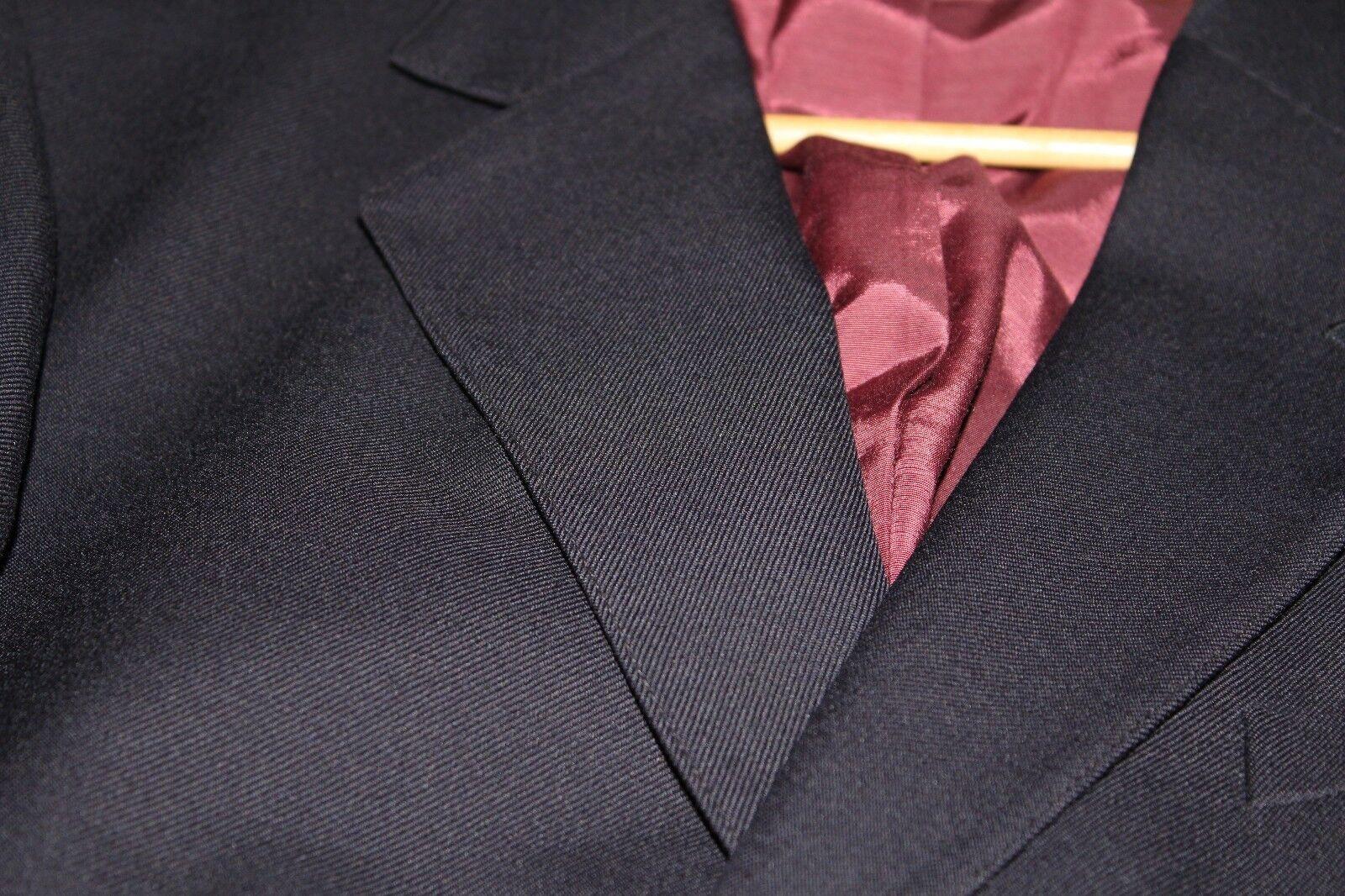 Très Belle Laine veste blazer Bleu dégriffée Laine Belle Vièrge; TBE. TXL  voir mesures 6f9381