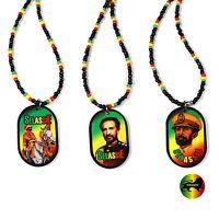 Africa Selassie Bingi Rastafari Rasta One Love Marley Jah Rastaman Necklace 22