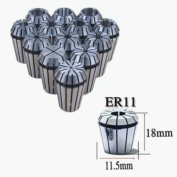 ER11 ER16 ER20 ER25 10/13PCS Spring Collet Set Fr CNC milling Engraving machine