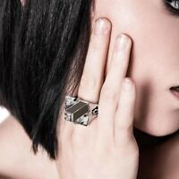 Kill Star Silver giza Pyramid Quartz Ring Sizes: 6, 7 -sale