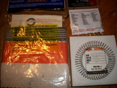 B-NEW Complete Tune Up Kit KEROSUN DIRECTOR WICK HEAT MANTLE COIL// IGNITER..