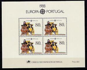 Portugal-postfrisch-1988-MiNr-Block-57-Transport-und-Kommunikationsmittel