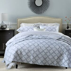 Cotton-Patchwork-Cotton-Quilt-Bedspread-Coverlet-Set-3-piece-Queen-King