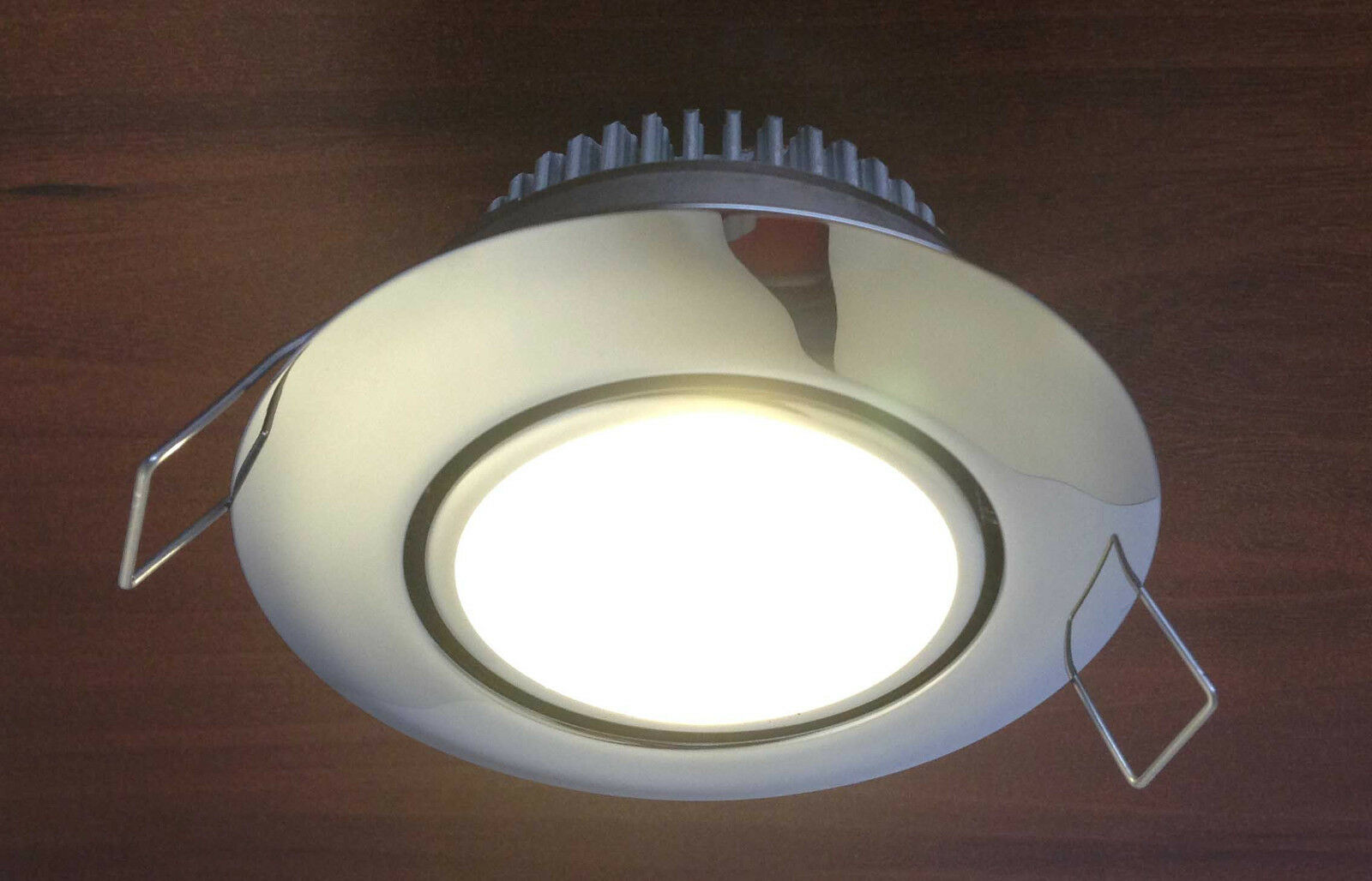 MARINE BOAT LED STAINLESS STEEL CEILING LIGHT ODM CLIP ON INSsizeTION