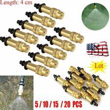 5-20 Adjustable Brass Misting Nozzle Gardening Watering Spray Sprinkler Sprayer