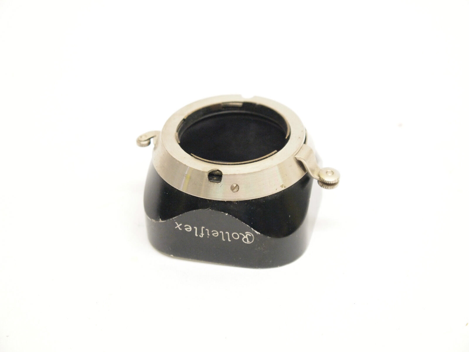 Rolleiflex Rare TLR Push-On Lens hood with attachment Clips.28mm diameter