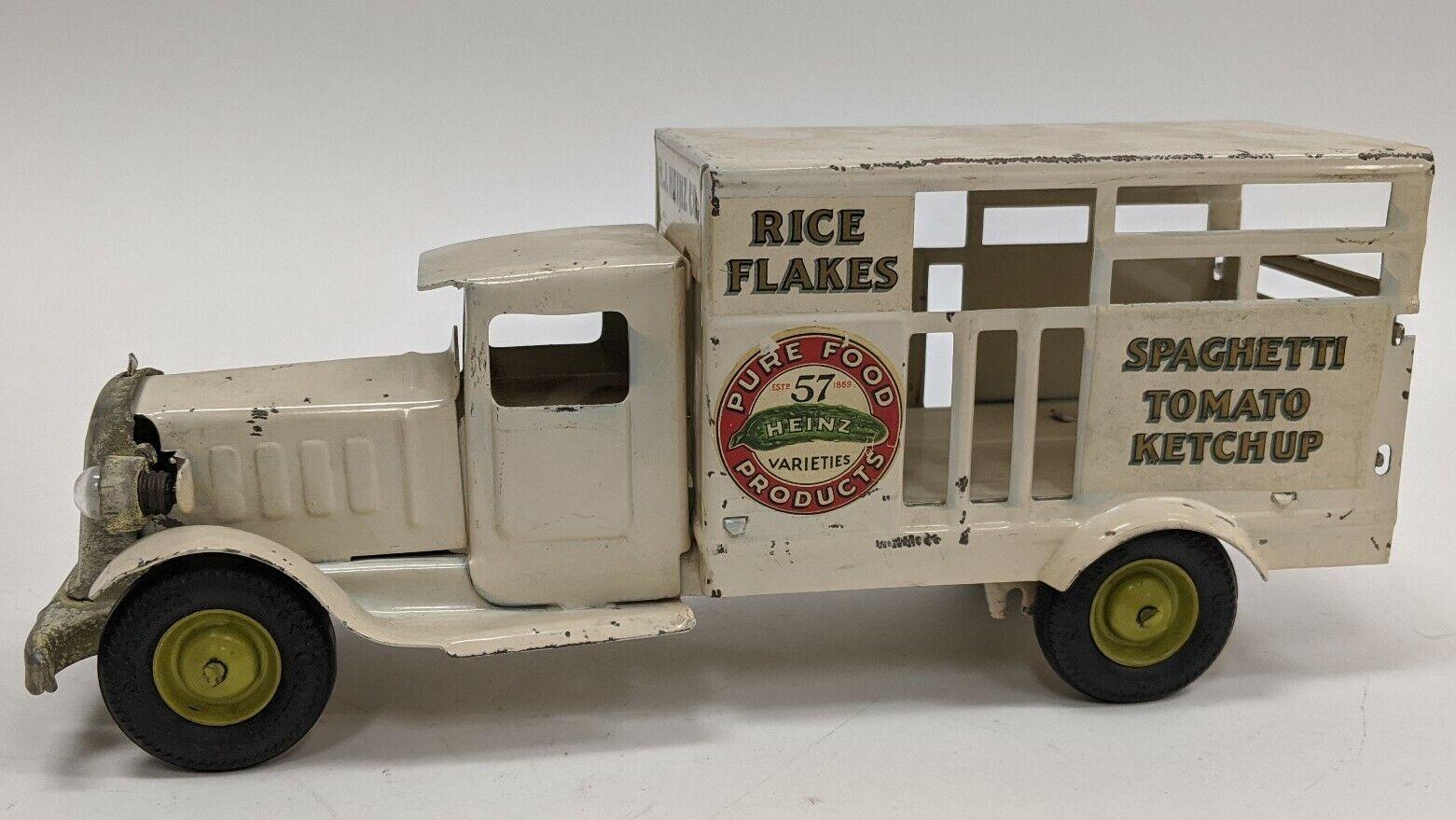 Vintage 1930's Original Metalcraft Pressed Steel Heinz Products Delivery Truck