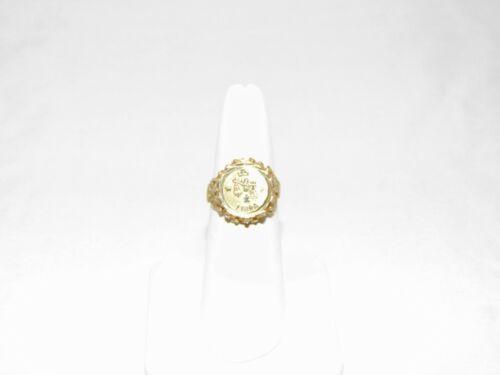 14k Gold Libra Ring Size 7 (n2015)
