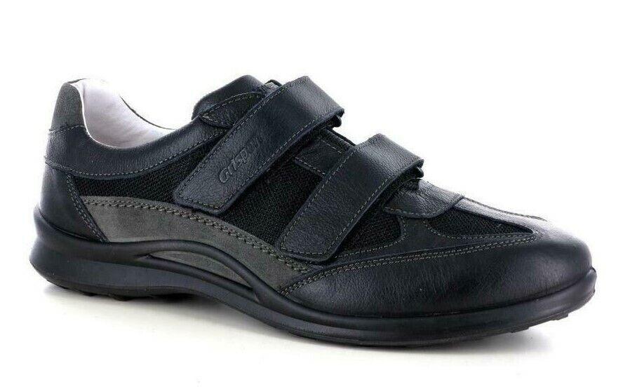 Zapatos grisport Franja ante Auténtico Hombre Art 8407 Negro Made IN