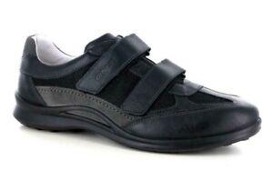 Chaussures Grisport Bande Véritable Cuir en Daim Homme Article 8407 Noir Italie