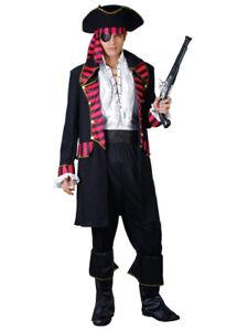 Adulto Uomo High Seas Buccaneer Pirate Caraibi Costume S-XL