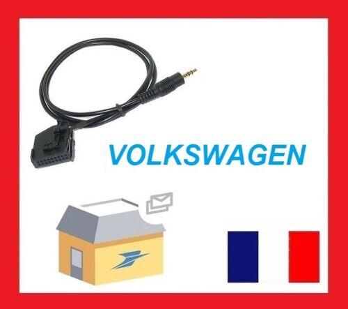 CABLE AUXILIAIRE MP3 AUTORADIO VW TOUAREG SHARAN CADDY MFD2 RNS RNS2