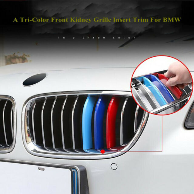 M-Sport 7 Bars Kidney Grill Grille 3 Color Cover Clips for