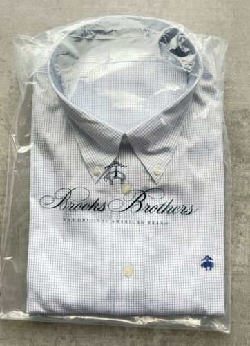 Brooks Brothers Blue /& White Squares chemise taille XXL nº 290