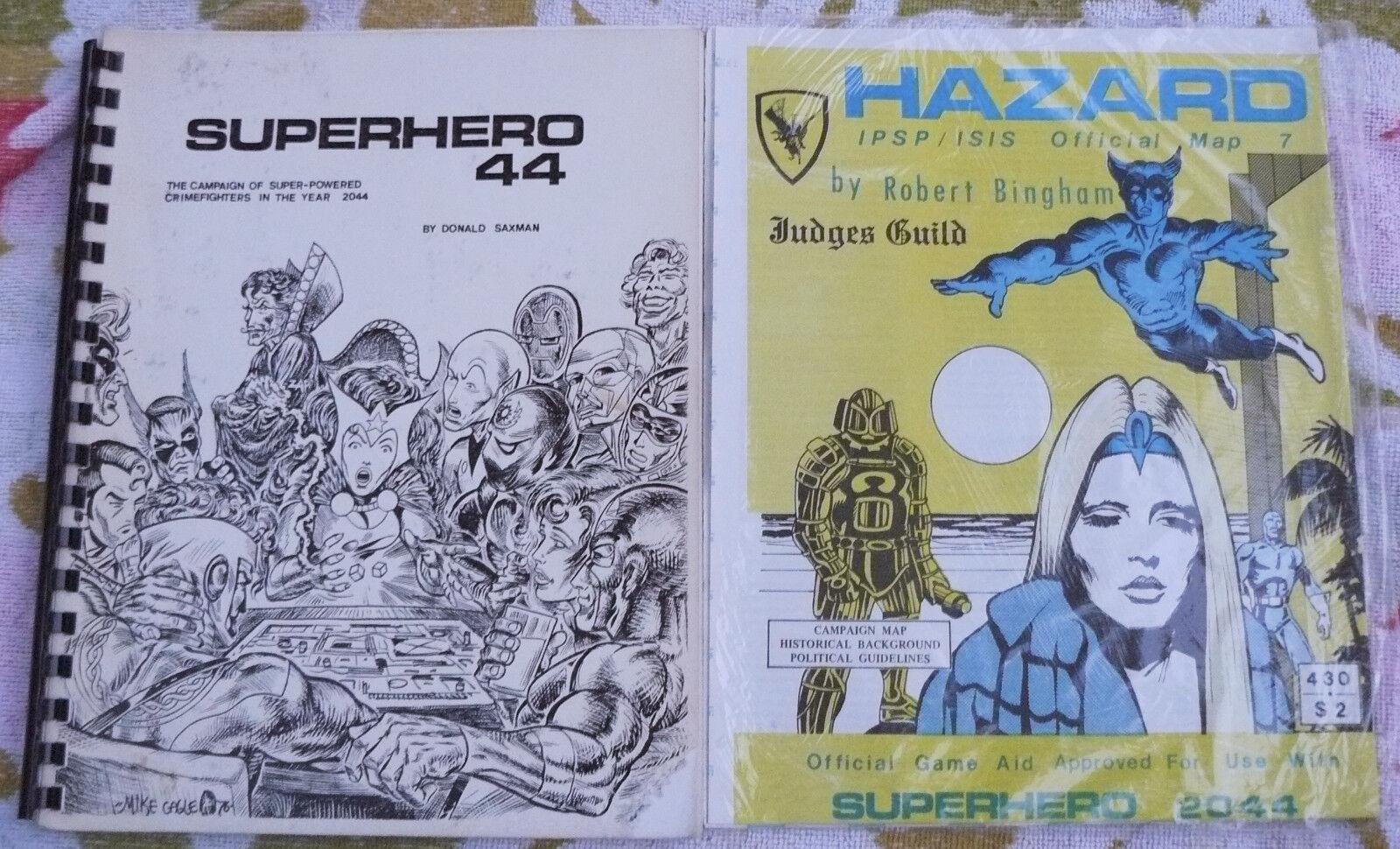 Superhjälte 44 senare 2044 av Donald Saxman Superhjälte RPG 1977