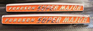 Fordson-Super-Major-Tractor-Bonnet-Side-Badges-Best-Better-than-Original