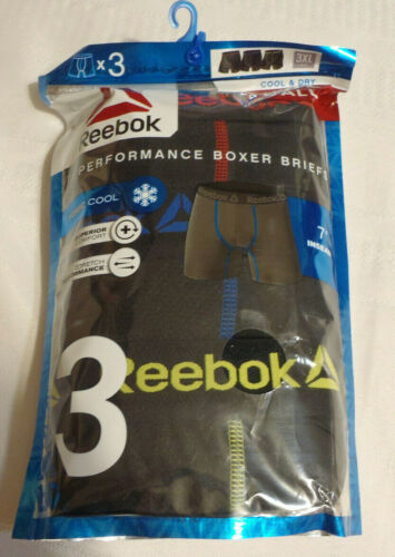 Details about  /Reebok Big /& Tall Mens Size 3XL Choice Performance Boxer Briefs Underwear NWT
