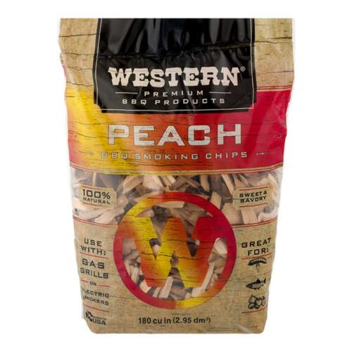 Peach Wood Chips for Smoking Meat Pork Ribs BBQ Electric Smoker Box Gas Grill